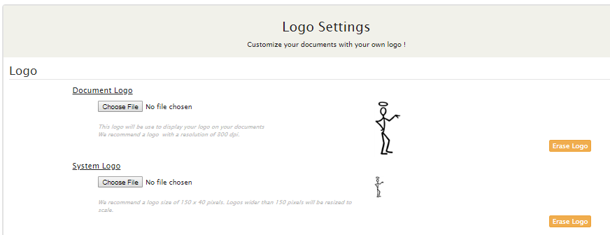 Your Logo inside documents